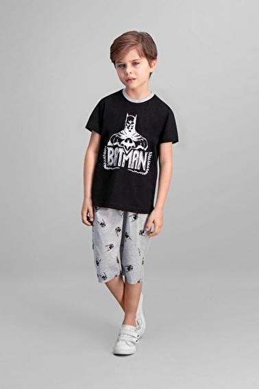 Batman Batman Lisanslı Siyah Erkek Çocuk Kapri Takım Siyah